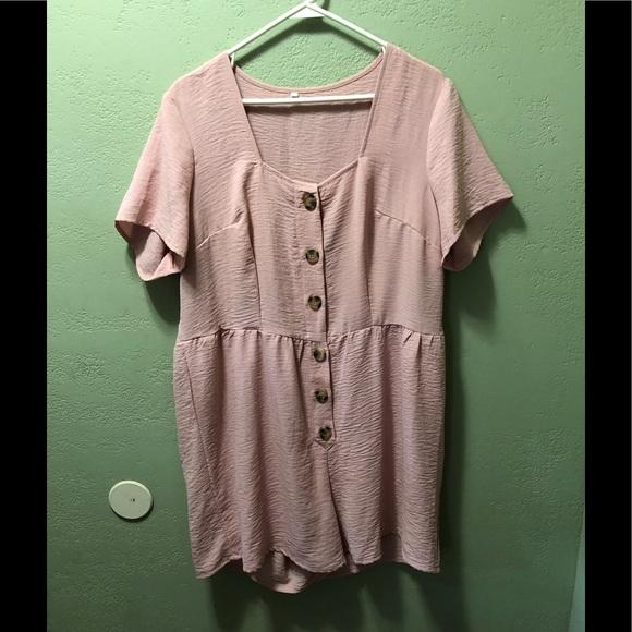Shein 1X Pink Romper